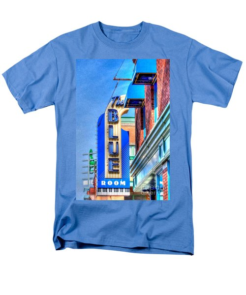 Sign - The Blue Room - Jazz District Men's T-Shirt  (Regular Fit) by Liane Wright