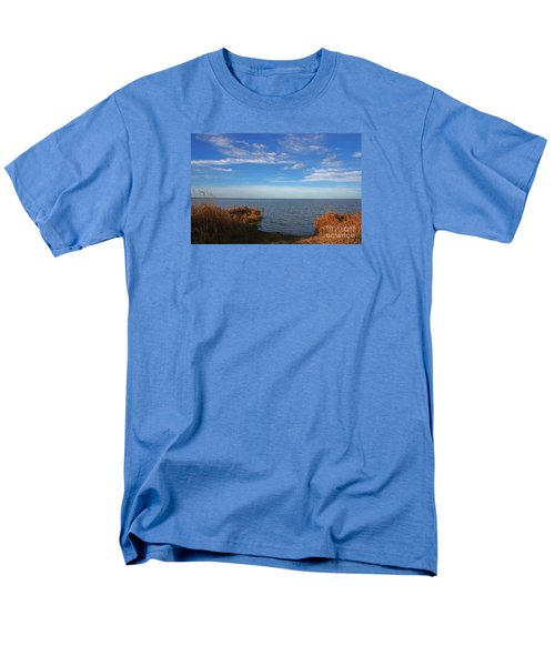 Sky Water And Grasses Men's T-Shirt  (Regular Fit) by Nareeta Martin