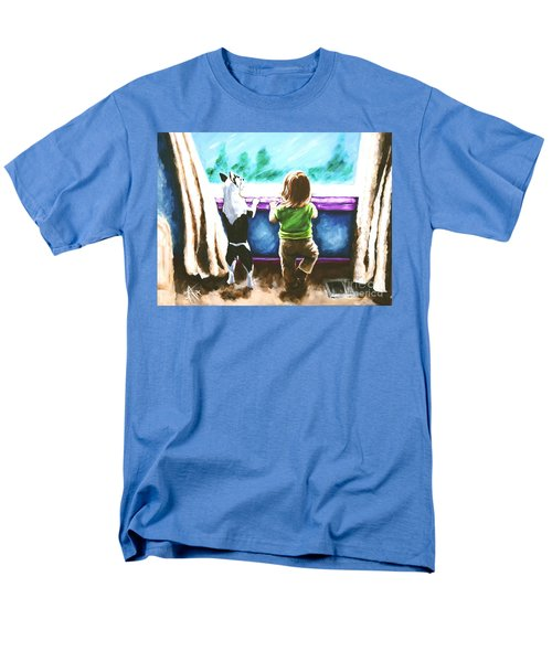 Waiting For Daddy Men's T-Shirt  (Regular Fit) by Jackie Carpenter