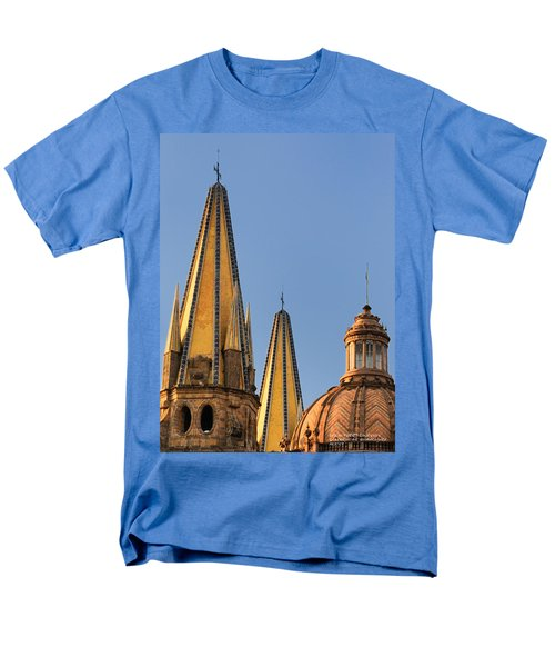Men's T-Shirt  (Regular Fit) featuring the photograph Spires And Dome - Cathedral Of Guadalajara Mexico by David Perry Lawrence