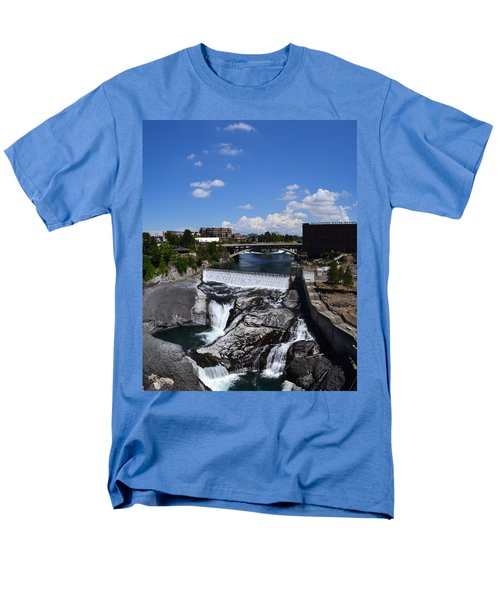 Spokane Falls And Riverfront Men's T-Shirt  (Regular Fit) by Michelle Calkins