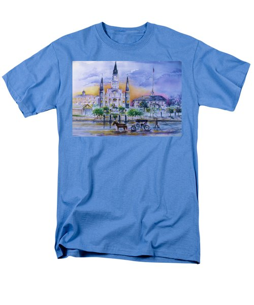 Men's T-Shirt  (Regular Fit) featuring the painting St. Charles New Orleans Sunset by Bernadette Krupa