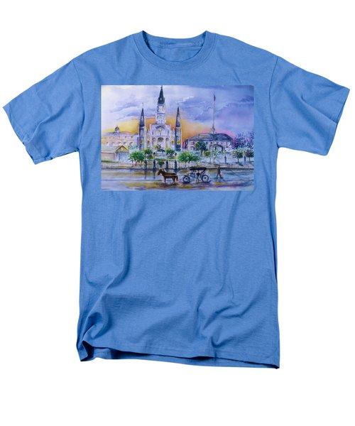 St. Charles New Orleans Sunset Men's T-Shirt  (Regular Fit) by Bernadette Krupa