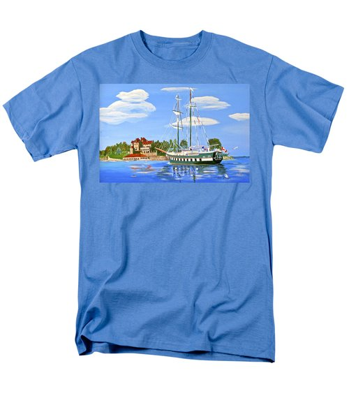 Men's T-Shirt  (Regular Fit) featuring the painting St Lawrence Waterway 1000 Islands by Phyllis Kaltenbach
