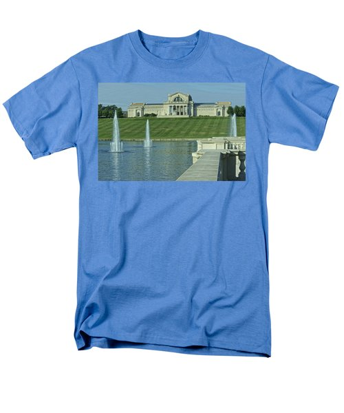 St Louis Art Museum And Grand Basin Men's T-Shirt  (Regular Fit) by Greg Kluempers