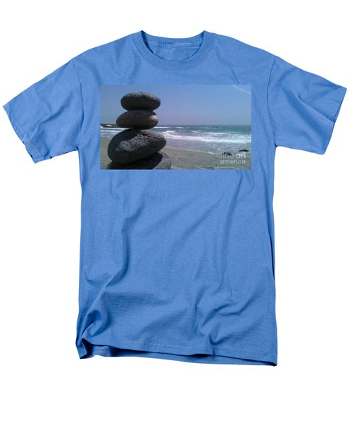 Stacked Rocks Men's T-Shirt  (Regular Fit) by Chris Tarpening