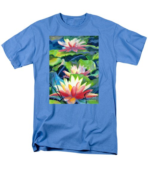 Styalized Lily Pads 3 Men's T-Shirt  (Regular Fit) by Kathy Braud