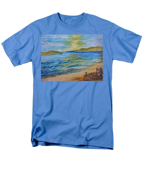 Men's T-Shirt  (Regular Fit) featuring the painting Summer/ North Wales  by Teresa White