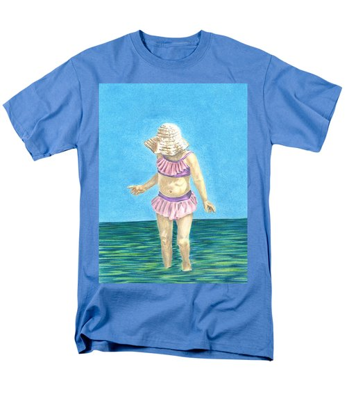 Men's T-Shirt  (Regular Fit) featuring the drawing Summer by Troy Levesque