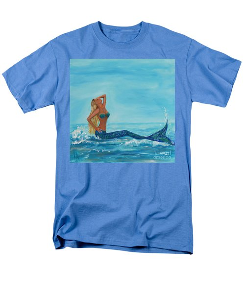 Sunbathing Mermaid Men's T-Shirt  (Regular Fit) by Leslie Allen