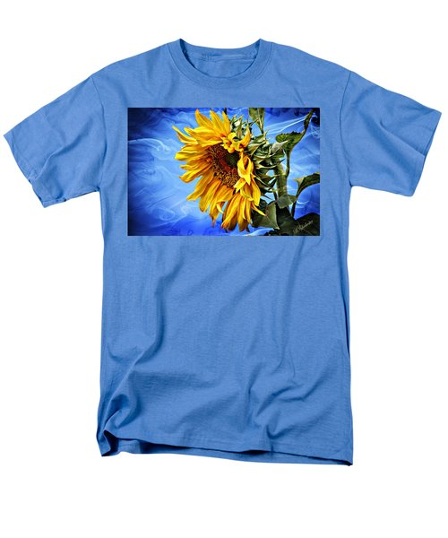 Men's T-Shirt  (Regular Fit) featuring the photograph Sunflower Fantasy by Barbara Chichester