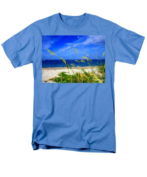Sunlit Beachgrass Men's T-Shirt  (Regular Fit) by Anthony Fishburne