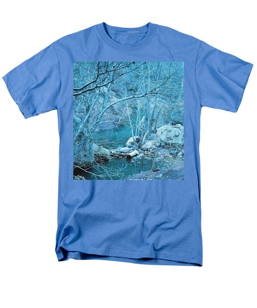 Men's T-Shirt  (Regular Fit) featuring the photograph Sycamores And River by Kerri Mortenson