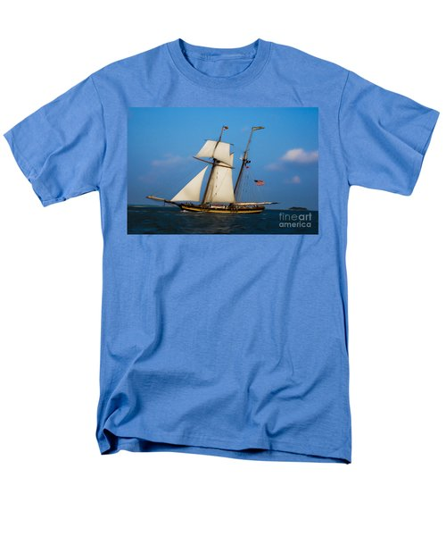 Tall Ships Over Charleston Men's T-Shirt  (Regular Fit) by Dale Powell