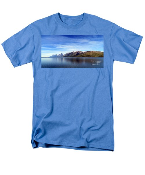 Tetons By The Lake Men's T-Shirt  (Regular Fit) by Ausra Huntington nee Paulauskaite