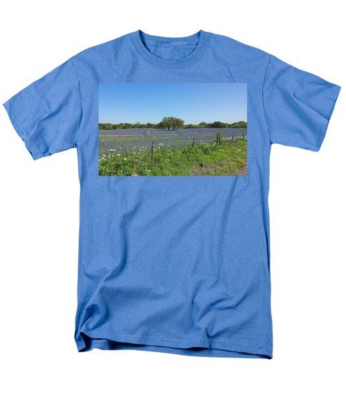 Texas Blue Bonnets Men's T-Shirt  (Regular Fit) by Shawn Marlow