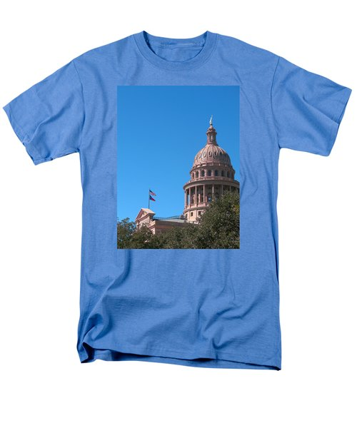 Men's T-Shirt  (Regular Fit) featuring the photograph Texas State Capitol With Pediment by Connie Fox