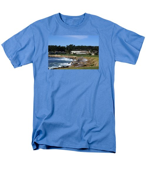 The 18th At Pebble Beach Men's T-Shirt  (Regular Fit) by Barbara Snyder