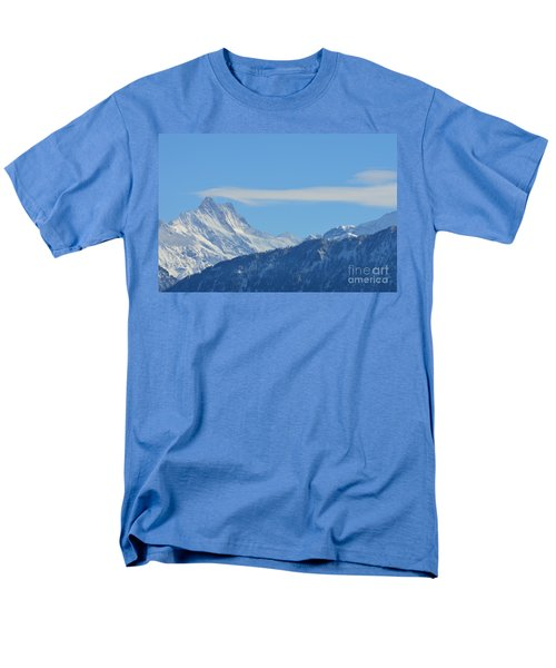 The Alps In Azure Men's T-Shirt  (Regular Fit) by Felicia Tica