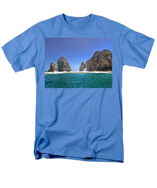 Men's T-Shirt  (Regular Fit) featuring the photograph The Arch  Cabo San Lucas On A Low Tide by Eti Reid