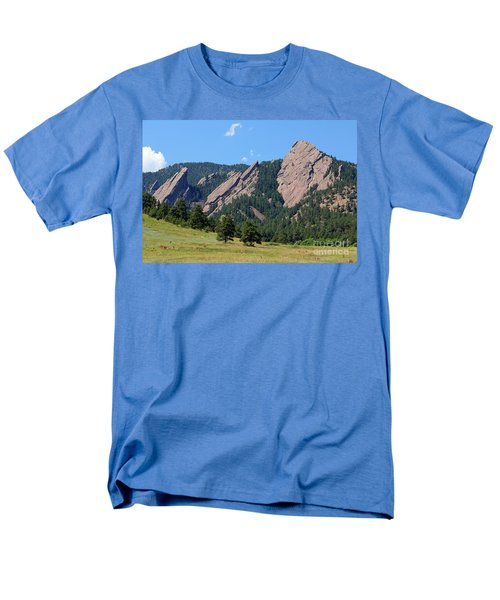 The Flatirons Men's T-Shirt  (Regular Fit) by Bob Hislop