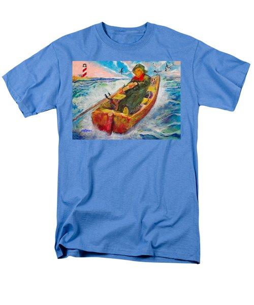 The Lone Boatman Men's T-Shirt  (Regular Fit) by Seth Weaver