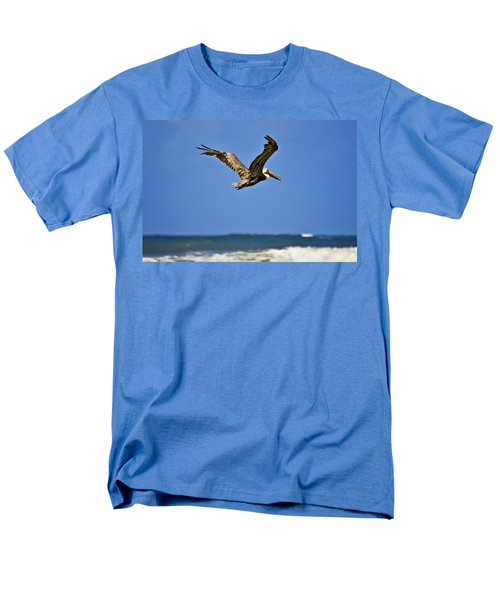 Men's T-Shirt  (Regular Fit) featuring the photograph The Pelican And The Sea by DigiArt Diaries by Vicky B Fuller