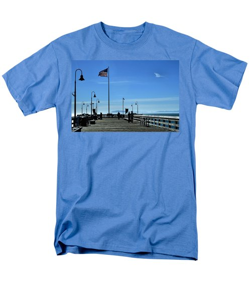 Men's T-Shirt  (Regular Fit) featuring the photograph The Pier by Michael Gordon