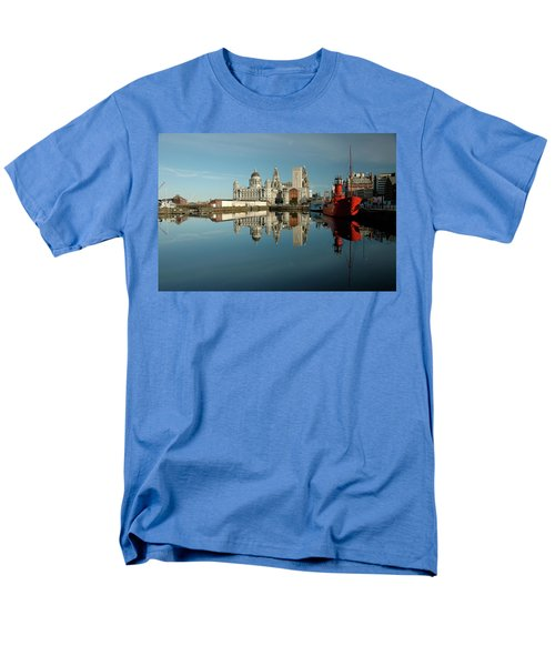 Men's T-Shirt  (Regular Fit) featuring the photograph The Red Ship by Jonah  Anderson