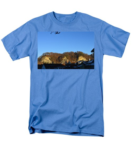 Men's T-Shirt  (Regular Fit) featuring the photograph The Three Stones From Burgdorf by Felicia Tica