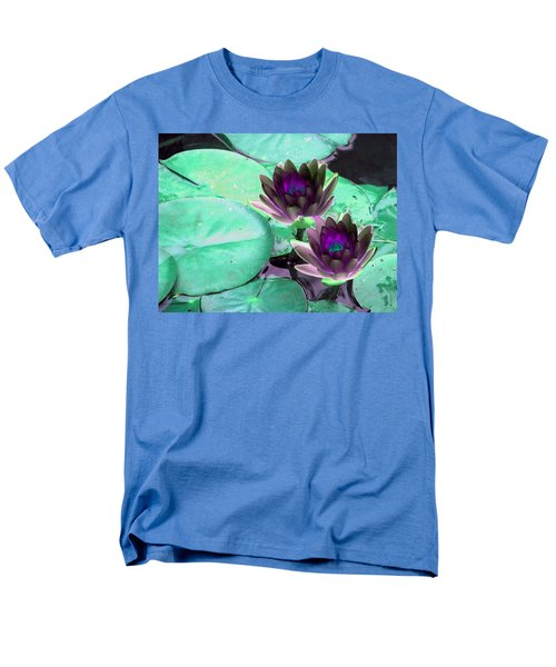 Men's T-Shirt  (Regular Fit) featuring the photograph The Water Lilies Collection - Photopower 1118 by Pamela Critchlow