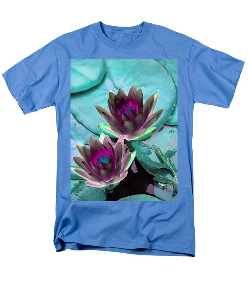 Men's T-Shirt  (Regular Fit) featuring the photograph The Water Lilies Collection - Photopower 1124 by Pamela Critchlow