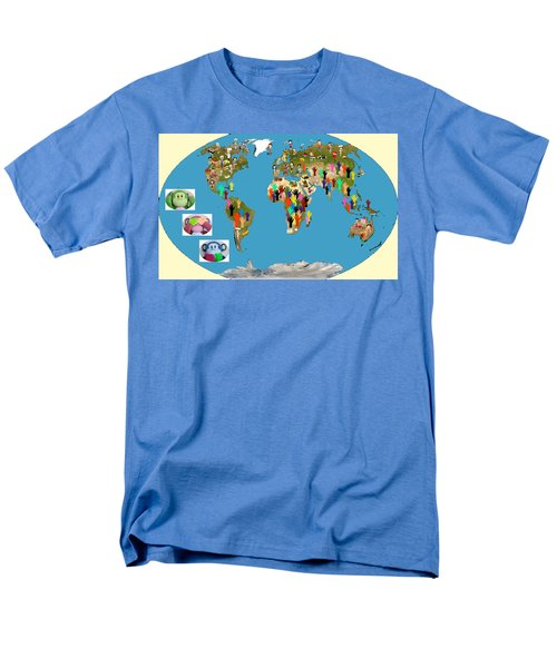 Three Monkeys And Hunger Men's T-Shirt  (Regular Fit) by Zafer Gurel