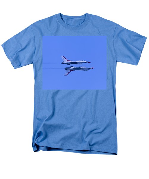 Men's T-Shirt  (Regular Fit) featuring the photograph Thunderbirds Solos 6 Over 5 Inverted by Donna Corless