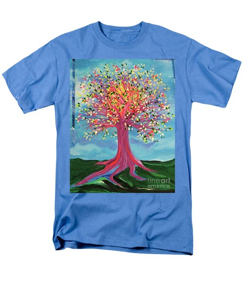 Men's T-Shirt  (Regular Fit) featuring the painting Tori's Tree By Jrr by First Star Art