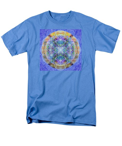 Men's T-Shirt  (Regular Fit) featuring the digital art Torusphere Synthesis Interdimensioning Soulin Iv by Christopher Pringer