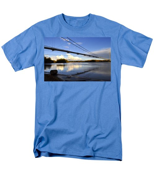 Men's T-Shirt  (Regular Fit) featuring the photograph Transalaska Pipeline Bridge by Cathy Mahnke