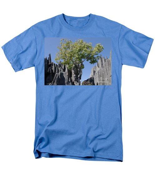 Men's T-Shirt  (Regular Fit) featuring the photograph Tree In The Tsingy De Bemaraha Madagascar by Rudi Prott