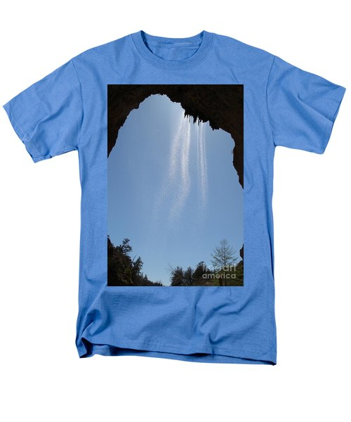 Men's T-Shirt  (Regular Fit) featuring the photograph Tree Root Run-off by Kerri Mortenson