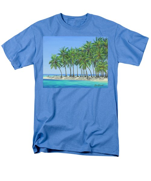 Men's T-Shirt  (Regular Fit) featuring the painting Tropical Lagoon by Jane Girardot