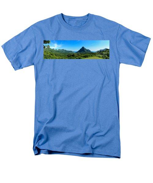 Tropical Moorea Panorama Men's T-Shirt  (Regular Fit)