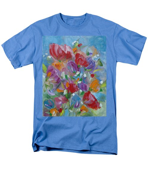 Men's T-Shirt  (Regular Fit) featuring the painting Tulip Symphony by Judith Rhue