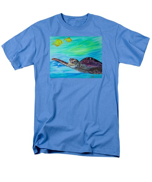 Men's T-Shirt  (Regular Fit) featuring the painting Traveling Through by Meryl Goudey