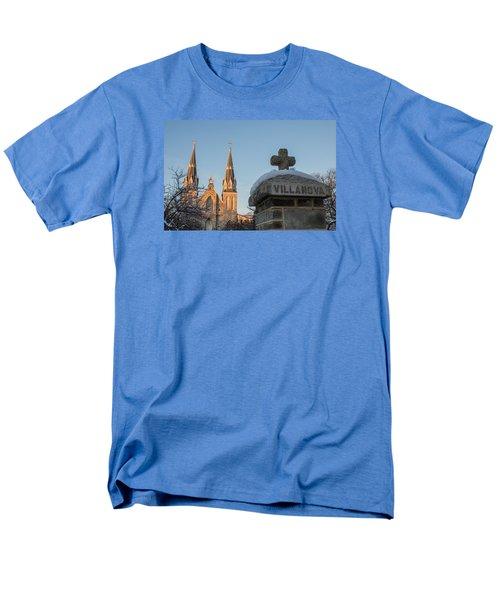 Villanova Wall And Chapel Men's T-Shirt  (Regular Fit)