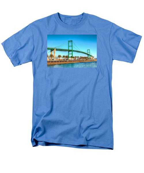 Men's T-Shirt  (Regular Fit) featuring the photograph Vincent Thomas Bridge by Jim Carrell
