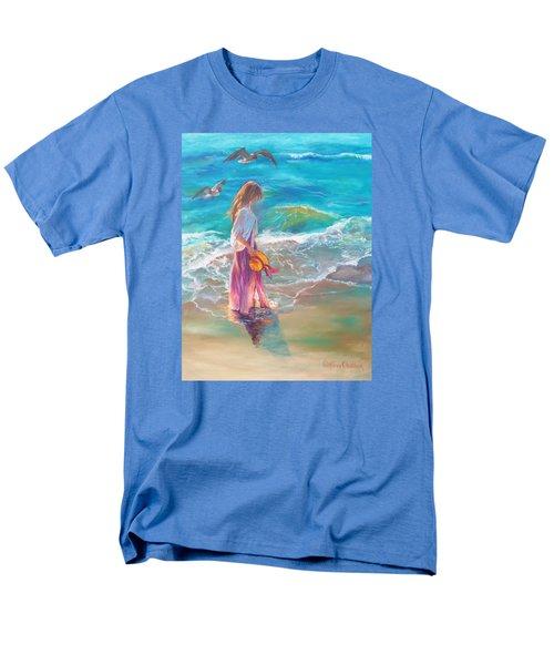 Walking In The Waves Men's T-Shirt  (Regular Fit) by Karen Kennedy Chatham