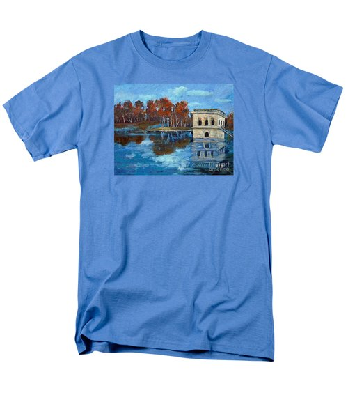 Men's T-Shirt  (Regular Fit) featuring the painting Waltham Reservoir by Rita Brown
