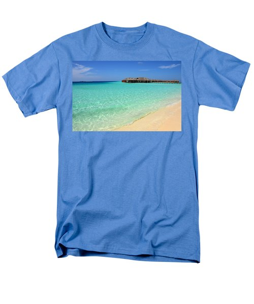 Warm Welcoming. Maldives Men's T-Shirt  (Regular Fit) by Jenny Rainbow