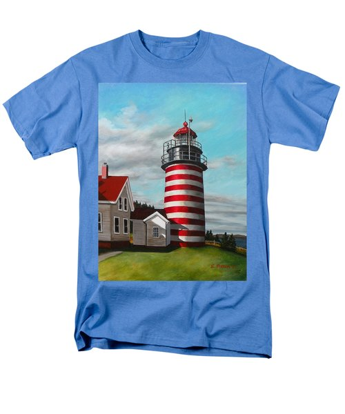 West Quoddy Head Lighthouse Men's T-Shirt  (Regular Fit) by Eileen Patten Oliver