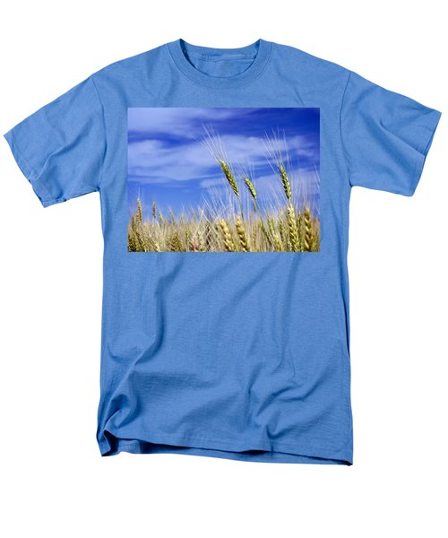 Men's T-Shirt  (Regular Fit) featuring the photograph Wheat Trio by Keith Armstrong